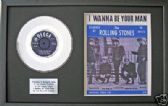 "THE ROLLING STONES - 7"" Platinum Disc&songsheet WANNA BE YOUR"